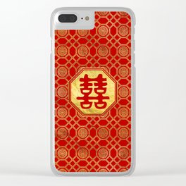 Double Happiness Feng Shui Symbol Clear iPhone Case