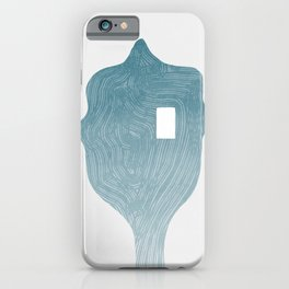 Looking through an abstract human face iPhone Case