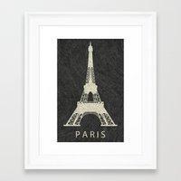 paris Framed Art Prints featuring Paris by NJ-Illustrations
