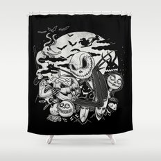 Filling Your Dreams to the Brim with Fright Shower Curtain