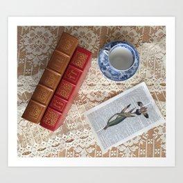 Little Women and Jane Eyre in Tableau Art Print