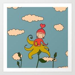 Flower Buddy :) Art Print