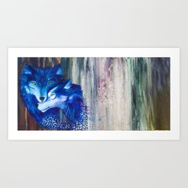 Ante Luna Lupus Art Print