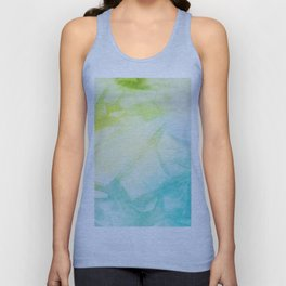 Abstract lime green teal hand painted watercolor pattern Unisex Tank Top