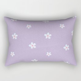 Modern lavender teal pink hand painted floral Rectangular Pillow