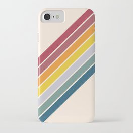 Sadana - Classic Colorful 70s Vintage Style Retro Racing Summer Stripes iPhone Case