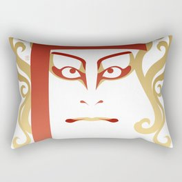 Sukeroku - a Kabuki Portrait Rectangular Pillow