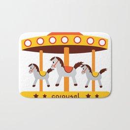 carousel amusement park Bath Mat