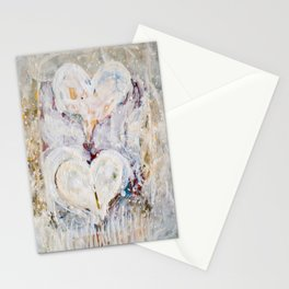winter Hearts-2 Stationery Cards