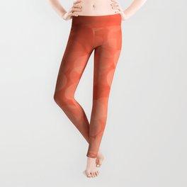 Bokeh Light Living Coral Color #decor #society6 #buyart Leggings