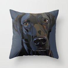 Jeb Lab Dog Throw Pillow