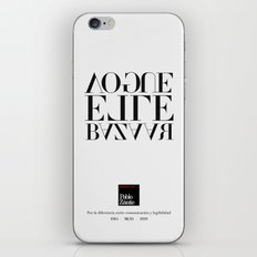 Legibility ain't communication (Piece 06/08) iPhone & iPod Skin