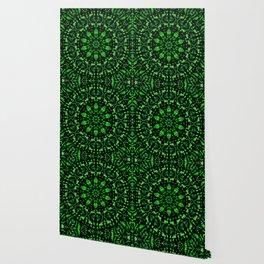 Green and Black Kaleidoscope Wallpaper
