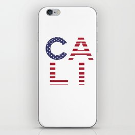 CALI American Flag Califronia Typography iPhone Skin