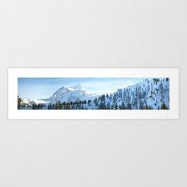 The Top of Mount Baker Highway Art Print
