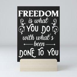 Freedom   Jean-Paul Sartre Mini Art Print