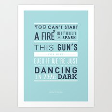 Lyrical Type - Dancing In The Dark Art Print