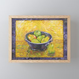 Still Life With Pears and Apples Framed Mini Art Print