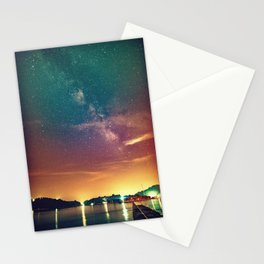 Milky Way Colorful Sunset Stationery Cards