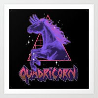 Quadricorn Art Print