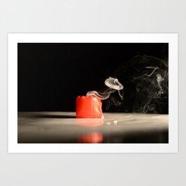 Smokin Candle Art Print