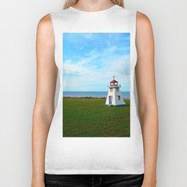 Tiny Lighthouse and Giant Bridge Biker Tank