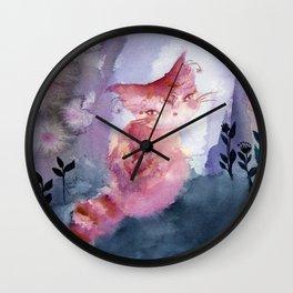 Sage at the Borderlines Wall Clock