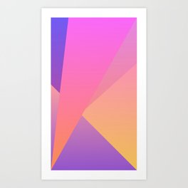 Diamond Fractals Art Print