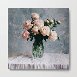 Peonies in the workshop - floral photography Metal Print