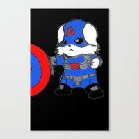 avenger Canvas Prints featuring Avenger Dog by Rocky Moose