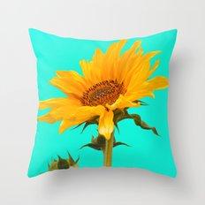 Sunflower chasing sun Throw Pillow