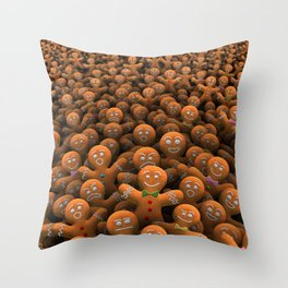 Gingerbread army Throw Pillow