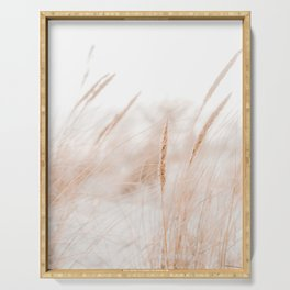 Beach Grass Pastel Colored Photo | Plantlife Photography | Warm Glow On Beach Grass Serving Tray