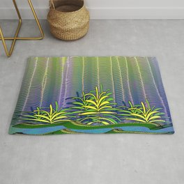 Tropical Yellow Jungle Rug