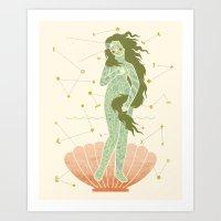 venus Art Prints featuring Venus by LordofMasks