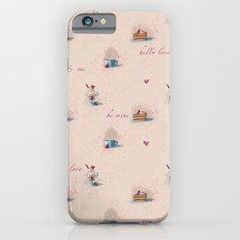Romantic food pattern iPhone Case