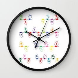 Merry and Bright Wall Clock