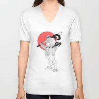 ninja turtle V-neck T-shirts featuring A Female Ninja Turtle by Rach-Draws