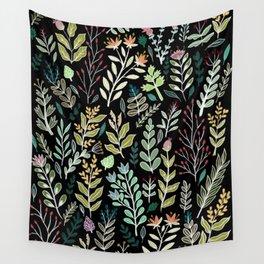Dark Botanic Wall Tapestry