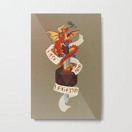 D20 Dragon Metal Print