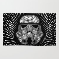 trooper Area & Throw Rugs featuring Trooper Star Circle Wars by Msimioni