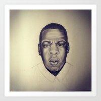 jay z Art Prints featuring Jay Z by Jade Delecia