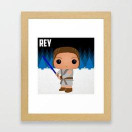REY! Framed Art Print
