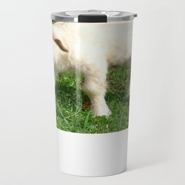 A Newborn Lamb Finding Its Feet Travel Mug