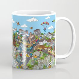 Illustrated map of Berlin-Prenzlauer Berg Coffee Mug