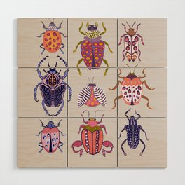 Assorted Beetles Wood Wall Art