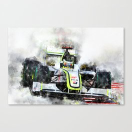 Jenson Button Brawn 2009 Canvas Print