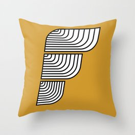 F like F Throw Pillow