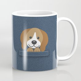 Beagle in a Pocket Coffee Mug