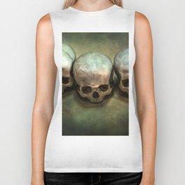 Three human skulls Biker Tank